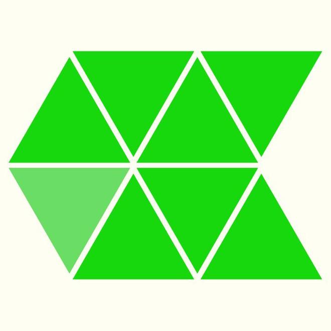 Người rất tinh mắt mới nhìn ra hình tam giác khác màu, bạn có nhìn thấy không? - Ảnh 2.