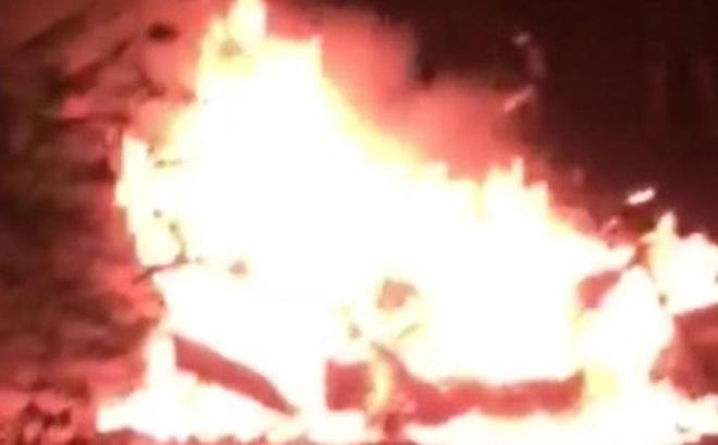 Một phụ nữ chết cháy trong công viên