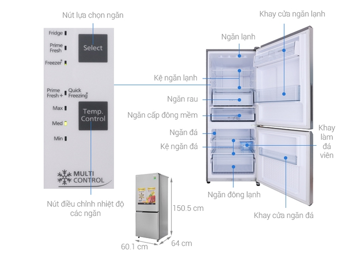 4 mẫu tủ lạnh Inverter siêu tiết kiệm điện lại cực bền trong khoảng giá 8 triệu đáng mua cho các gia đình - Ảnh 1.