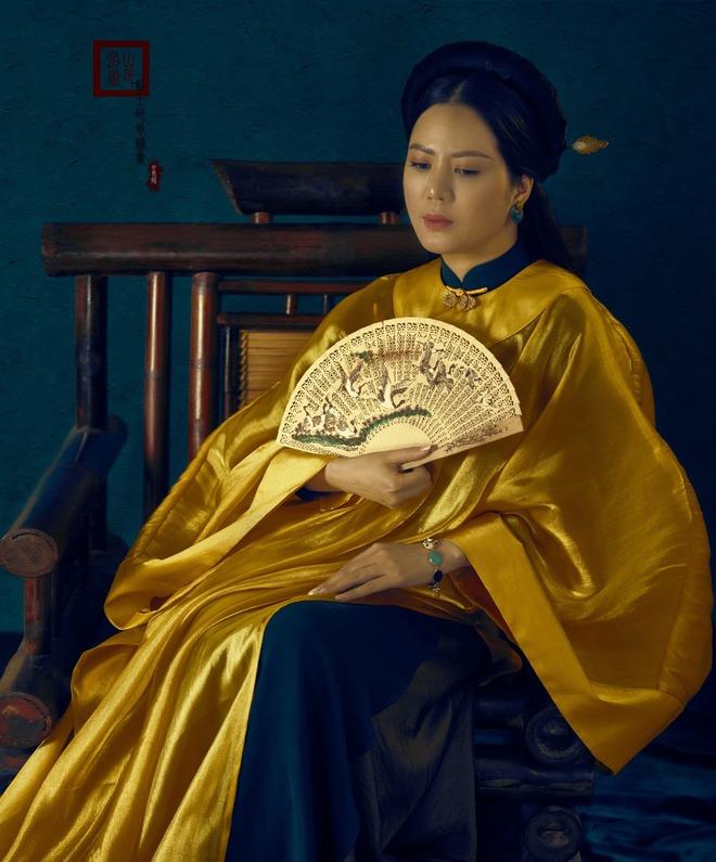 Đinh Hiền Anh hoá mỹ nhân thời xưa trong bộ ảnh đón tuổi 42 - Ảnh 4.