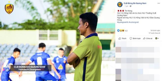 Quảng Nam thua đậm Viettel, HLV Vũ Hồng Việt từ chức - Ảnh 1.