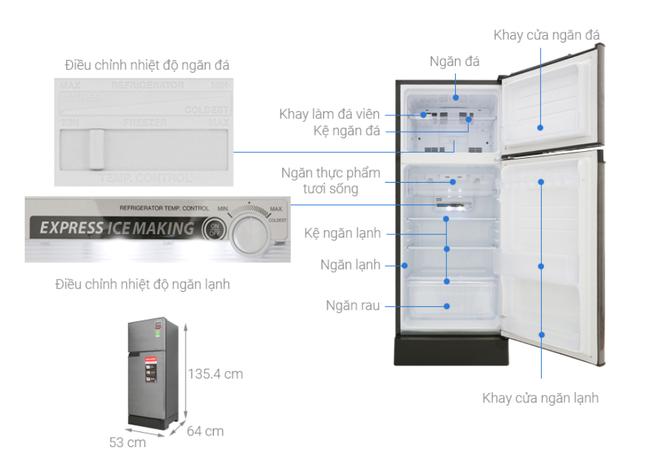 Top 5 tủ lạnh tiết kiệm điện đáng mua nhất trong tầm giá dưới 6 triệu đồng - Ảnh 3.