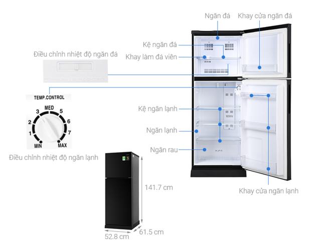 Top 5 tủ lạnh tiết kiệm điện đáng mua nhất trong tầm giá dưới 6 triệu đồng - Ảnh 4.