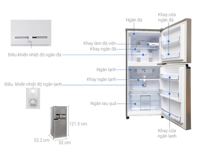 Top 5 tủ lạnh tiết kiệm điện đáng mua nhất trong tầm giá dưới 6 triệu đồng - Ảnh 5.