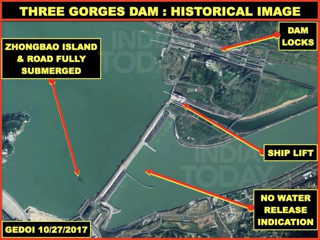 Đại tá Ấn Độ: Ảnh vệ tinh cho thấy TQ có thể đã đưa ra nhiều thông tin không đúng về đập Tam Hiệp - Ảnh 1.