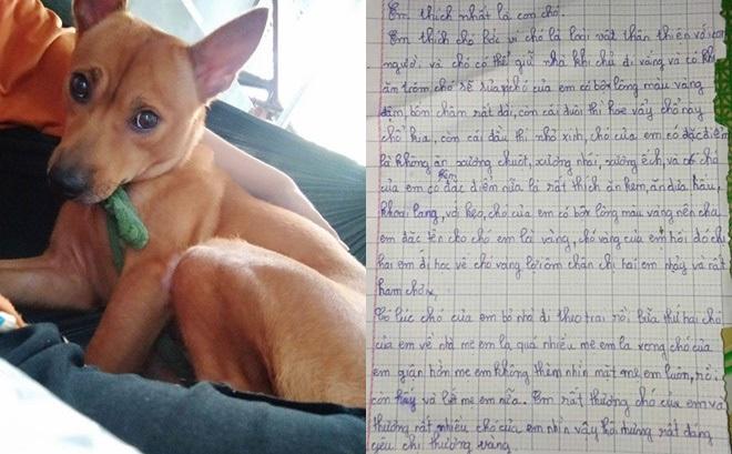 """Bài văn tả con chó của cô bé tiểu học khiến tất cả bật cười vì """"có lúc bỏ nhà theo trai rồi"""""""