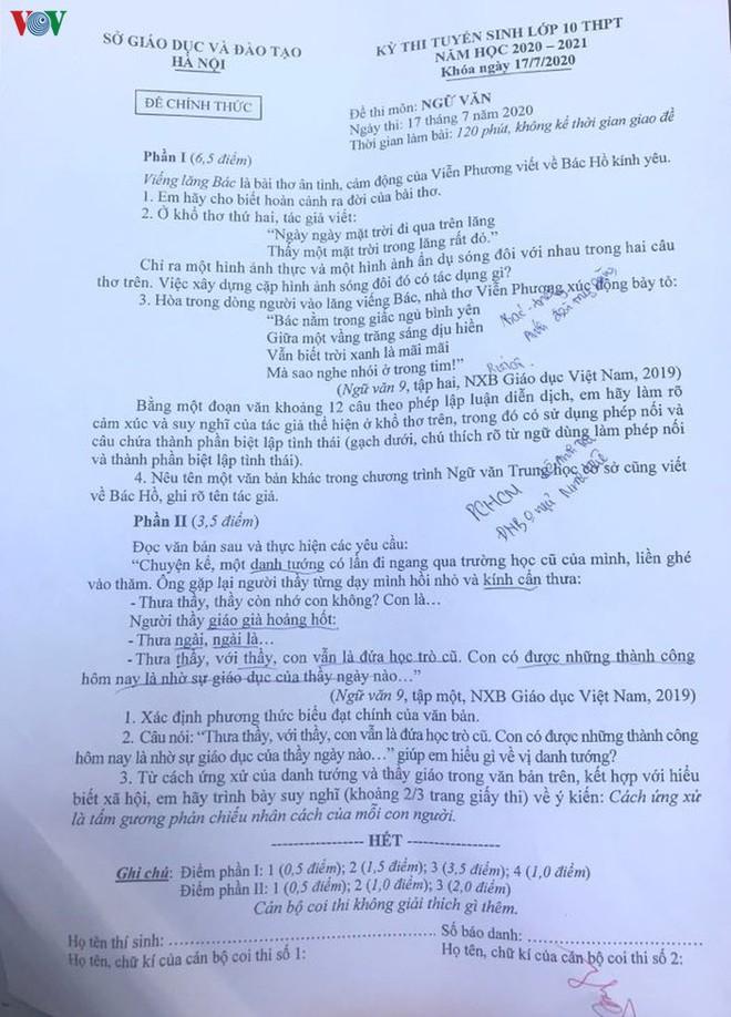 Giáo viên dự đoán phổ điểm môn Ngữ văn thi vào lớp 10 ở Hà Nội - Ảnh 1.