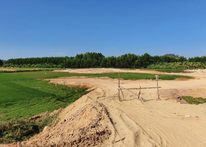 Đất Xanh Quảng Ngãi ngang nhiên dùng máy xúc lấp đất ruộng khi chưa được giao đất - Ảnh 1.