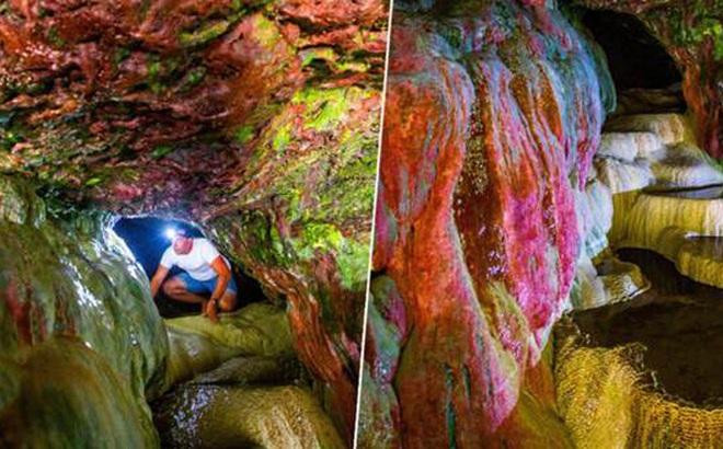 Bí ẩn hang động màu cầu vồng bị lãng quên ở Mỹ có khả năng chữa bách bệnh