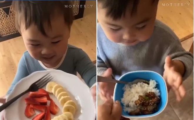 """Bé trai 2 tuổi bỗng """"nổi như cồn"""" khi luôn nói một câu mỗi lúc được mẹ giúp đỡ hoặc cho đồ ăn"""