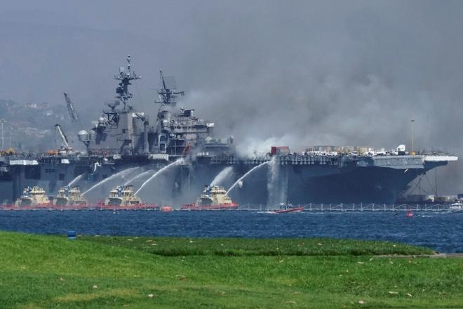 Cháy tàu đổ bộ tỷ USD chỉ là chuyện nhỏ, Mỹ vừa để lộ điểm yếu chí tử cho Nga - Trung Quốc - Ảnh 2.