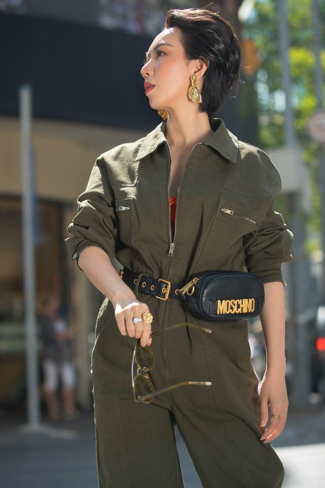 Hoa hậu hài Thu Trang mặc gợi cảm đi dạo phố - Ảnh 9.