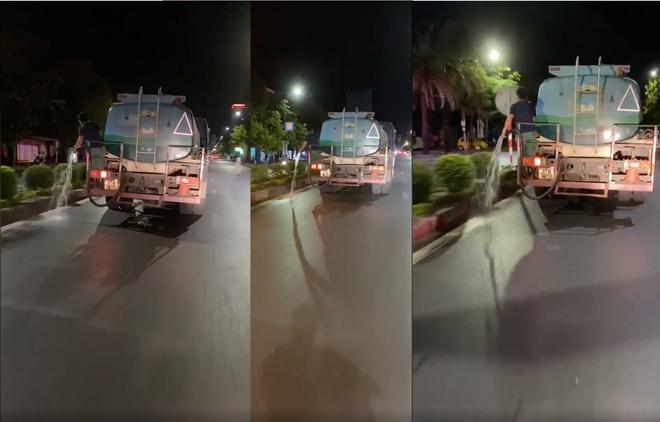 Clip nhân viên công ty cây xanh không tưới cây mà cho vòi tưới xuống đường khiến dư luận bức xúc - Ảnh 2.