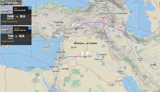 QĐ Iran, Syria bị Israel tấn công, Damascus rung chuyển và rực lửa - Máy bay Iran đi vào không phận Thổ Nhĩ Kỳ, rất bất thường - Ảnh 1.