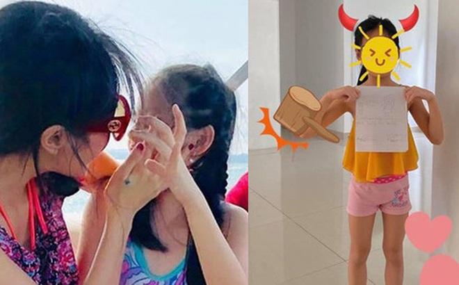Con gái Công Vinh - Thủy Tiên mới 7 tuổi nhưng đã sở hữu đôi chân dài miên man giống mẹ