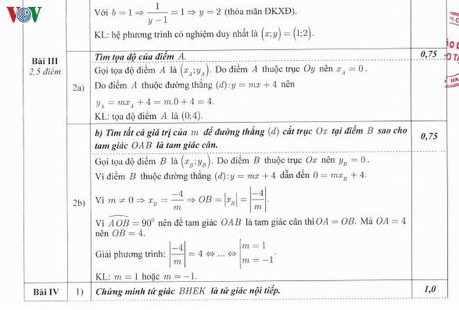 Thi lớp 10 tại Hà Nội: Chi tiết đáp án, thang điểm môn Toán của Sở GD-ĐT - Ảnh 3.