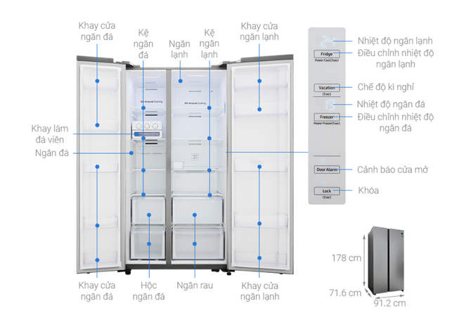 Tủ lạnh hai cánh tiết kiệm điện hạ giá xuống dưới 20 triệu đồng - Ảnh 2.