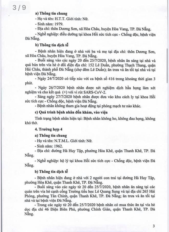 Lịch trình 11 bệnh nhân COVID-19 tại Đà Nẵng vừa công bố - Ảnh 3.