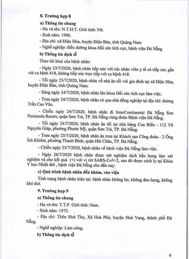 Lịch trình 11 bệnh nhân COVID-19 tại Đà Nẵng vừa công bố - Ảnh 6.