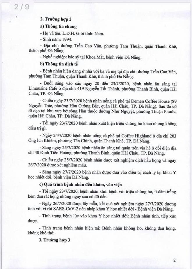 Lịch trình 11 bệnh nhân COVID-19 tại Đà Nẵng vừa công bố - Ảnh 2.