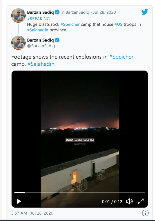 Rocket bí ẩn đánh trúng máy bay quân sự tại căn cứ Mỹ ở Iraq - Thổ Nhĩ Kỳ sẽ tấn công căn cứ Nga ở Armenia? - Ảnh 1.