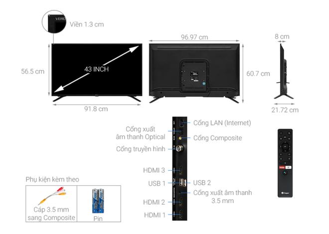 Top 5 mẫu TV thông minh 43 inch giá rẻ dưới 6 triệu đồng - Ảnh 1.