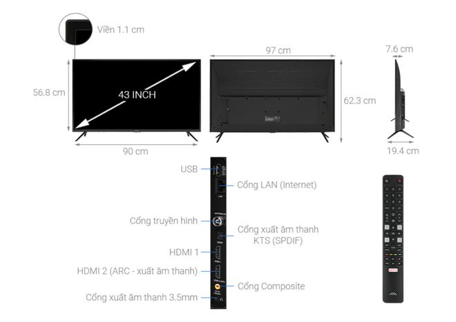 Top 5 mẫu TV thông minh 43 inch giá rẻ dưới 6 triệu đồng - Ảnh 4.