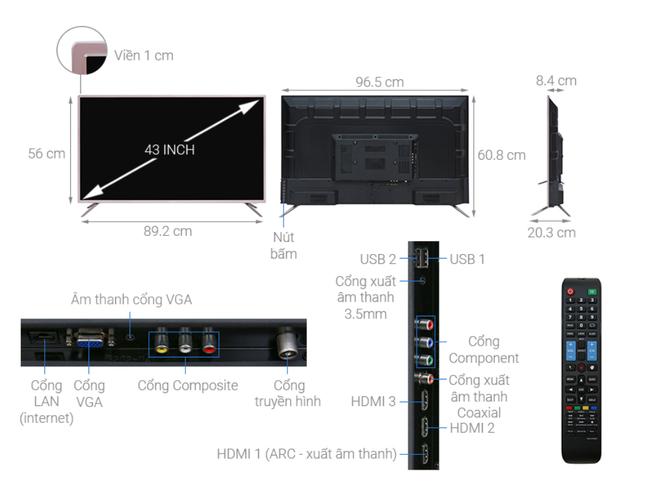 Top 5 mẫu TV thông minh 43 inch giá rẻ dưới 6 triệu đồng - Ảnh 3.