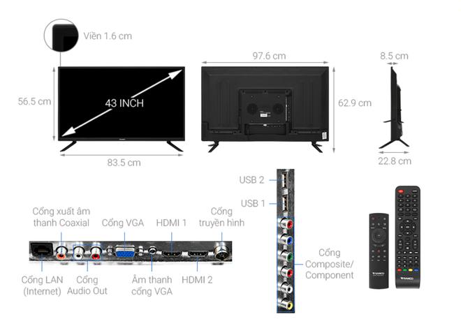 Top 5 mẫu TV thông minh 43 inch giá rẻ dưới 6 triệu đồng - Ảnh 5.