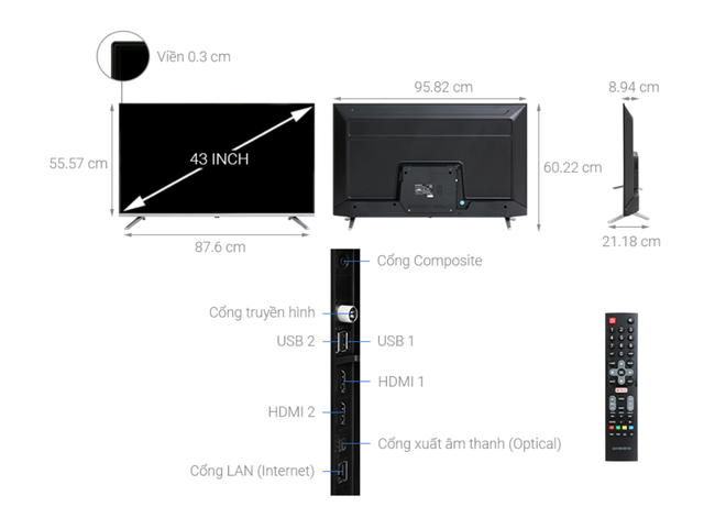 Top 5 mẫu TV thông minh 43 inch giá rẻ dưới 6 triệu đồng - Ảnh 2.