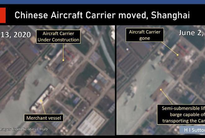 Tàu sân bay đang đóng dở bỗng mất tích bí ẩn: Bức ảnh rò rỉ làm lộ bí mật của Trung Quốc - Ảnh 2.
