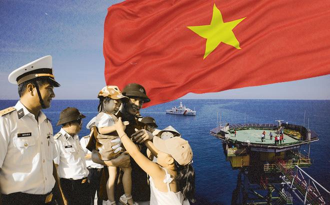"""Từ Cam Ranh đến Trường Sa: Chuyến đi chưa từng có, """"loa phường"""" trên biển và chiếc xe mang biển """"khủng"""" ở đảo Phan Vinh"""