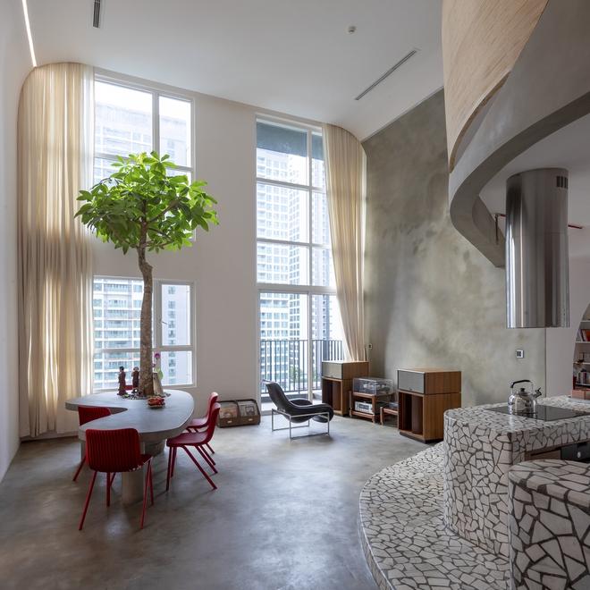 Chiêm ngưỡng căn nhà với lối thiết kế đương đại độc đáo tại Tp.HCM - Ảnh 4.