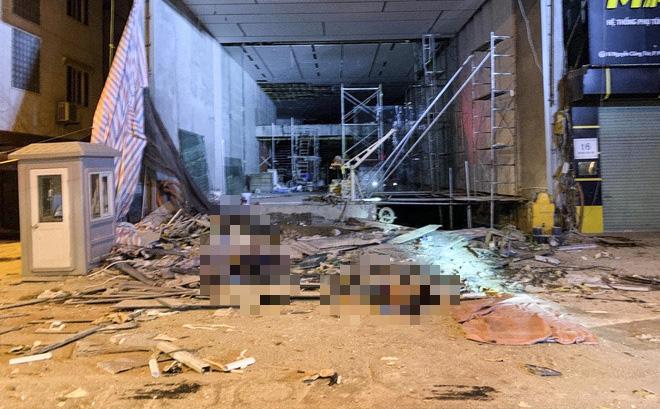 Nhân chứng kể lại giây phút kinh hoàng vụ gãy thang công trình khiến 4 người chết ở Hà Nội - anh 3