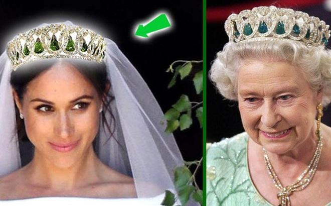 """Sách mới về nhà Sussex tiết lộ sự thật đằng sau tranh cãi giữa Meghan với Nữ hoàng về chiếc vương miện """"không được phép dùng trong hôn lễ hoàng gia"""""""