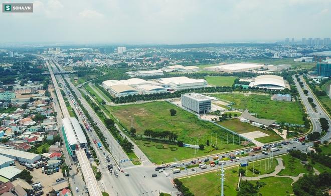 [ẢNH] Hình dáng ga metro khu Công Nghệ Cao lộ diện sau 8 năm xây dựng - Ảnh 3.