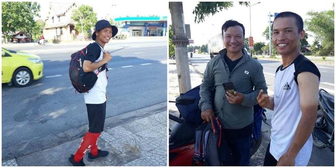 45 ngày đi bộ xuyên Việt với 0 đồng, chàng trai vừa xin ăn, làm thuê vừa quyên góp 127 triệu cho người nghèo - Ảnh 2.