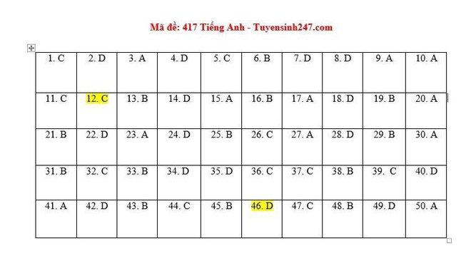 [CẬP NHẬT] Đáp án tất cả các mã đề môn Anh kỳ thi tốt nghiệp THPT Quốc gia năm 2020 - Ảnh 10.