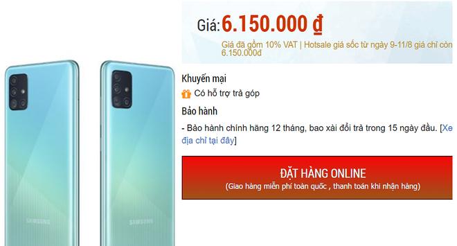 Điện thoại chạy Android bán chạy nhất thế giới của Samsung giảm giá còn 6 triệu đồng - Ảnh 1.