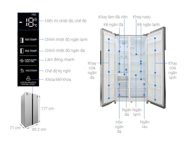"""Nhiều mẫu tủ lạnh dung tích lớn tiếp tục giảm giá """"kịch sàn"""" - Ảnh 5."""