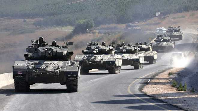 Syria ra tối hậu thư cho QĐ Mỹ: Mệnh lệnh chưa từng có - Xe tăng Israel áp sát biên giới Li-Băng - Ảnh 1.