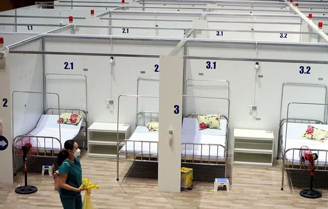 Những hình ảnh về Bệnh viện Dã chiến Tiên Sơn ở Đà Nẵng sắp đưa vào sử dụng - Ảnh 9.