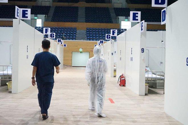 Những hình ảnh về Bệnh viện Dã chiến Tiên Sơn ở Đà Nẵng sắp đưa vào sử dụng - Ảnh 3.
