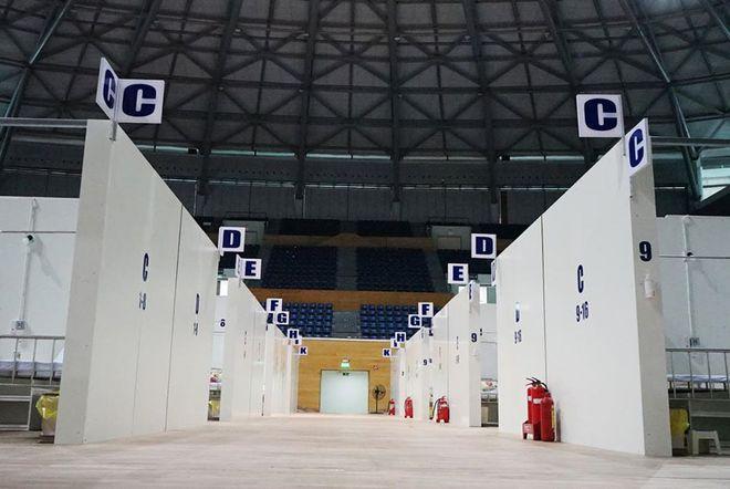 Những hình ảnh về Bệnh viện Dã chiến Tiên Sơn ở Đà Nẵng sắp đưa vào sử dụng - Ảnh 8.