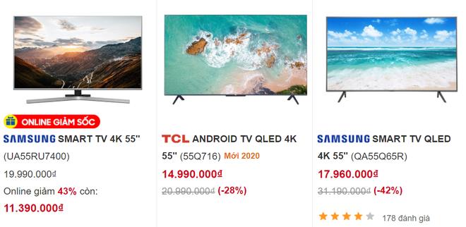 """6 mẫu tivi giảm giá 50%, nhiều chiếc có màn hình """"khủng"""" rẻ hiếm có - Ảnh 2."""