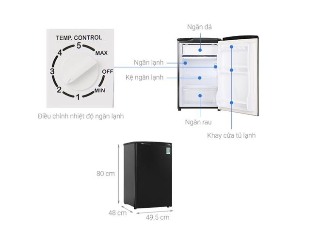 Những tủ lạnh tiết kiệm điện dành cho sinh viên giá dưới 3 triệu đồng - Ảnh 3.