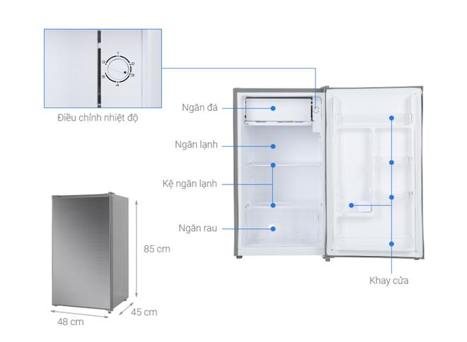 Những tủ lạnh tiết kiệm điện dành cho sinh viên giá dưới 3 triệu đồng - Ảnh 2.