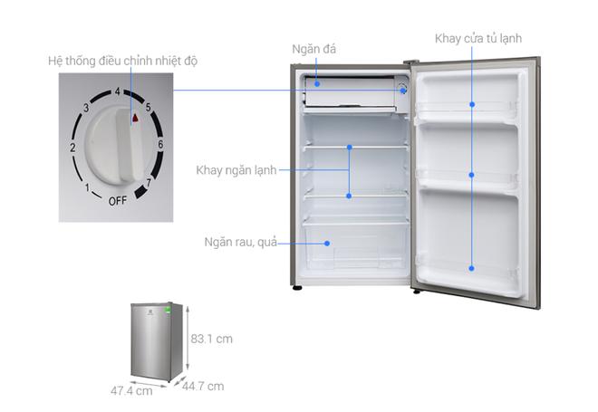 Những tủ lạnh tiết kiệm điện dành cho sinh viên giá dưới 3 triệu đồng - Ảnh 1.