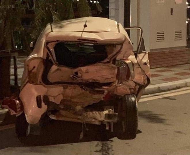 Hiện trường vụ xe Lexus gây tai nạn liên hoàn ở Hải Phòng - Ảnh 3.