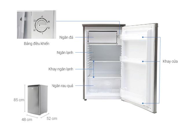 Những tủ lạnh tiết kiệm điện dành cho sinh viên giá dưới 3 triệu đồng - Ảnh 4.
